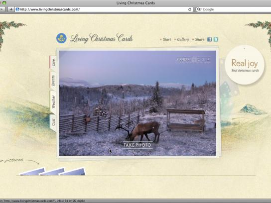 Swedish Postal Service Digital Ad -  Living Christmas Cards