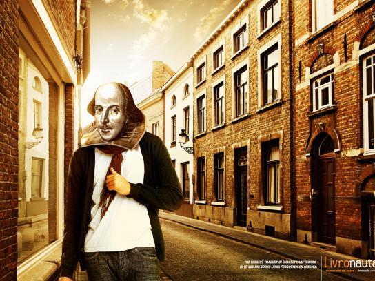 Livronauta Print Ad -  Heads, Shakespeare