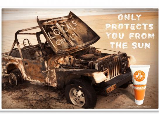 Australian Surfer Sunblock Print Ad -  Localism