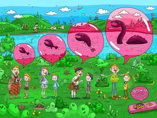 Hubba Bubba Print Ad -  Lochness