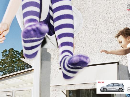 Toyota Print Ad -  Long stocking