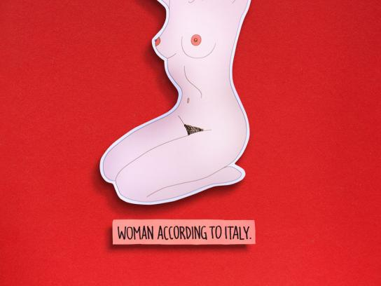 Feltrinelli Print Ad -  Woman according to Italy
