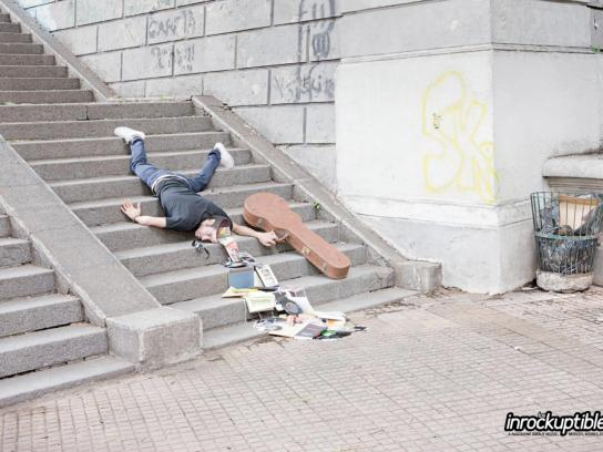 Los Inrockuptibles Outdoor Ad -  Stairs