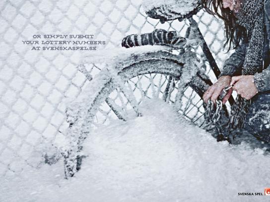 Svenska Spel Print Ad -  Bike