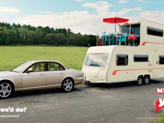 The National lottery UK Outdoor Ad -  Caravan