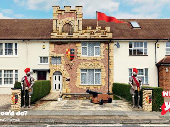 The National lottery UK Outdoor Ad -  Castle