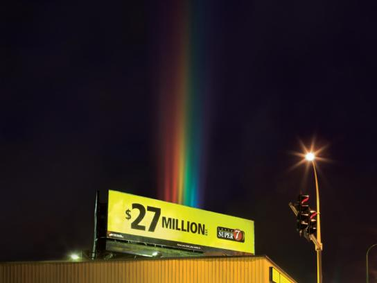 BC Lottery Corporation Ambient Ad -  Rainbow