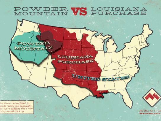 Powder Mountain Print Ad -  Louisiana