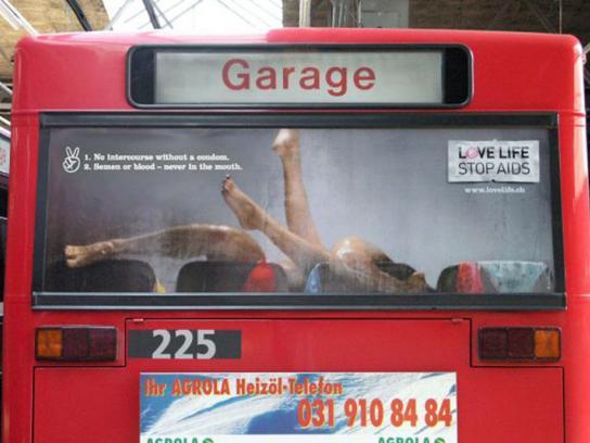 Aids awareness, Bus