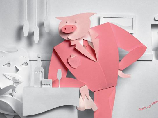 Guardian Dental Floss Print Ad -  Pig