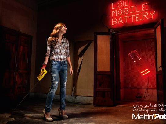 Meltin'Pot Print Ad -  Low Battery