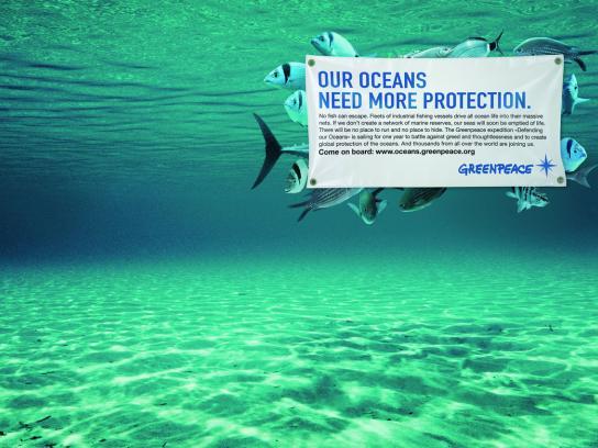 Greenpeace Print Ad -  Ocean defenders, 3