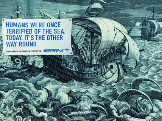 Greenpeace Print Ad -  Ocean defenders, 5