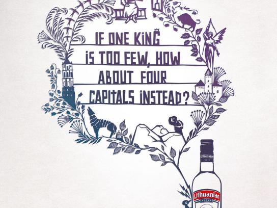 Lithuanian Vodka Print Ad -  Capitals