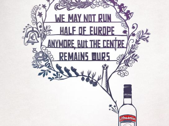 Lithuanian Vodka Print Ad -  Centre