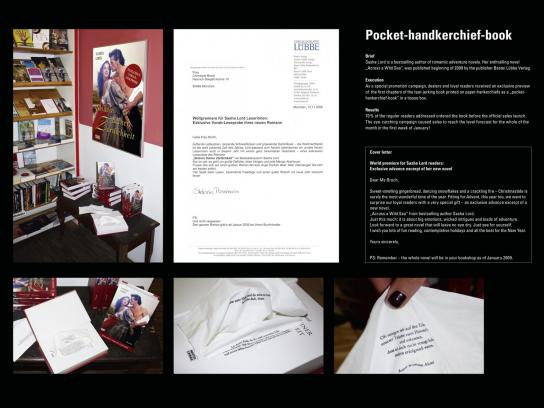 Verlagsgruppe Lubbe & Co Direct Ad -  paper handkerchief book