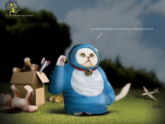 Lucky Cat Club Print Ad -  Doraemon