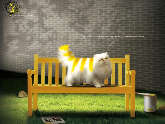 Lucky Cat Club Print Ad -  Garfield