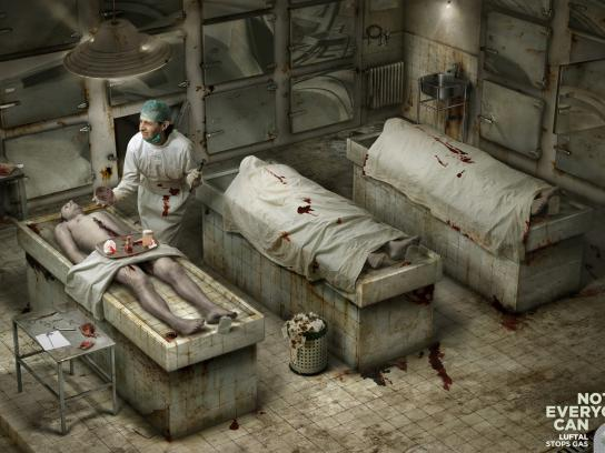 Luftal Print Ad -  Not everyone can, Morgue
