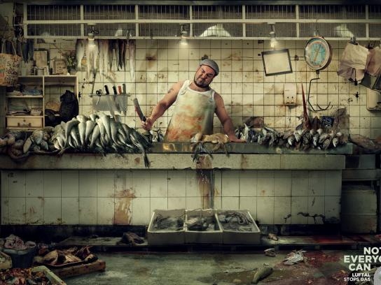 Luftal Print Ad -  Not everyone can, Fish market