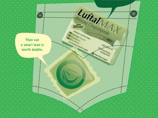 Luftal Print Ad -  Condom