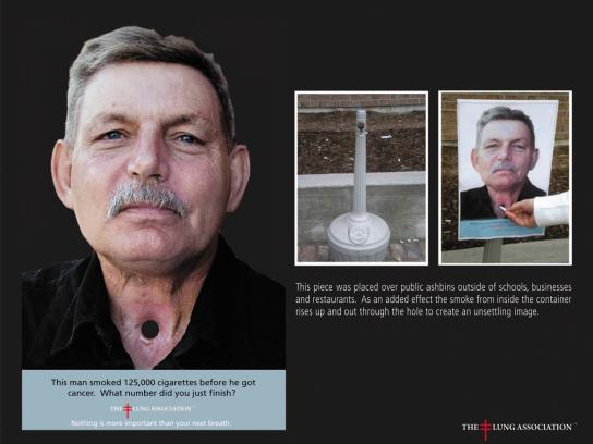 The Lung Association Ambient Ad -  Hole