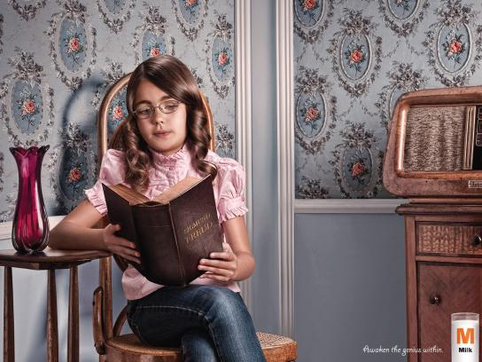 M Milk Print Ad -  Freud