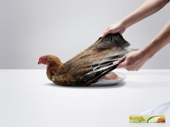 M Wrap Outdoor Ad -  Chicken