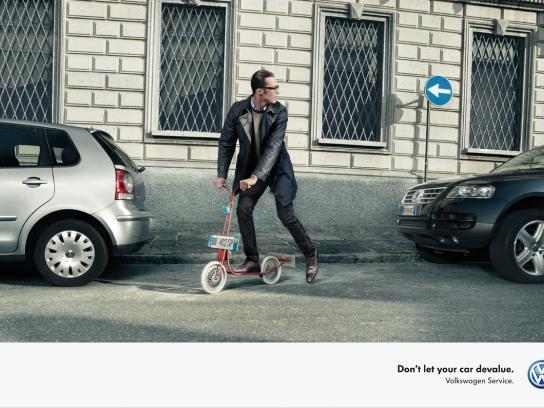 Volkswagen Print Ad -  Scooter