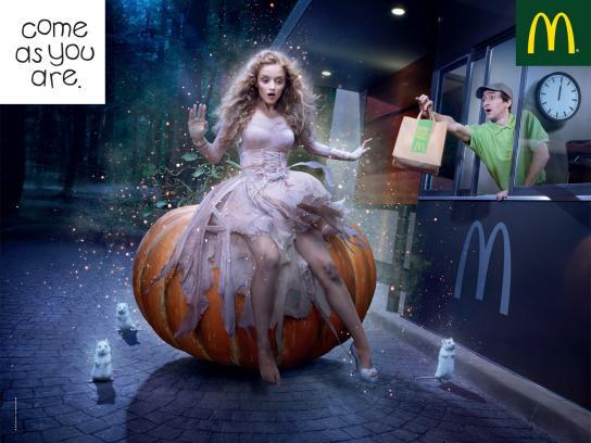 McDonald's Print Ad -  Cinderella