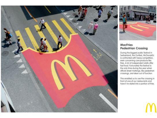 McDonald's Ambient Ad -  MacFries Pedestrian Crossing