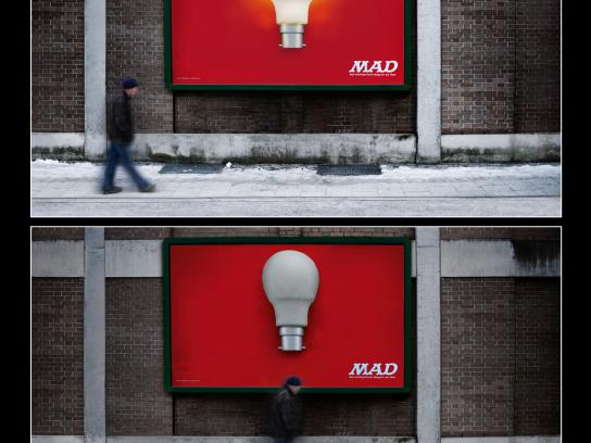 MAD Outdoor Ad -  Light bulb