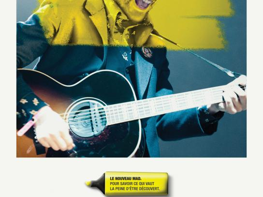 Mad Cultural Newspaper Print Ad -  Guitarist