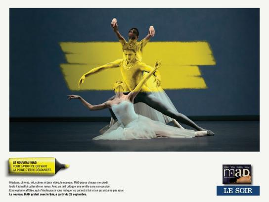 Mad Cultural Newspaper Print Ad -  Ballet