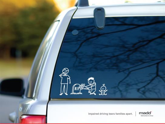 MADD Print Ad -  Stick Family Grave