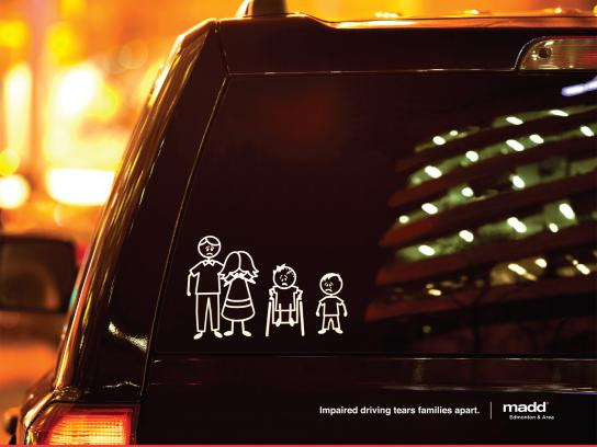 MADD Print Ad -  Stick Family Wheelchair