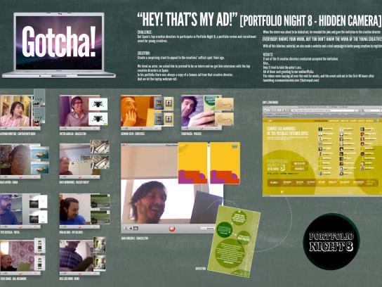 Portfolio Night Digital Ad -  Hey! That's My Ad