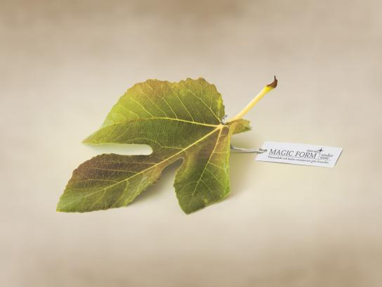 Magic Form Print Ad -  Leaf