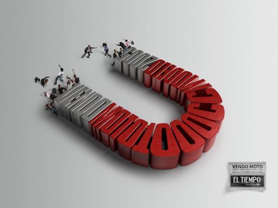 El Tiempo Print Ad -  Magnet