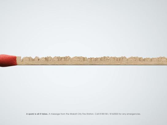 Makati City Print Ad -  Match