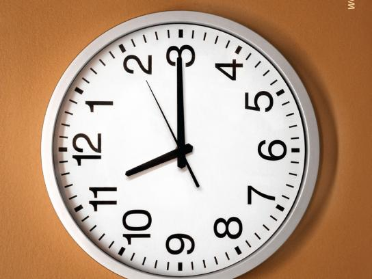 Mambocino Print Ad -  Clock