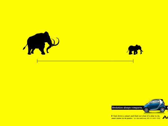Smart Print Ad -  Evolution always compacts, Mastodon