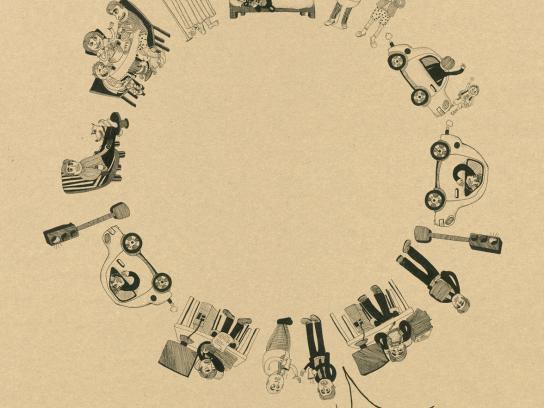 Diesenhaus Circule Print Ad -  Man