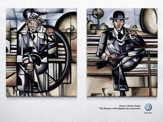 Volkswagen Print Ad -  Man in Park