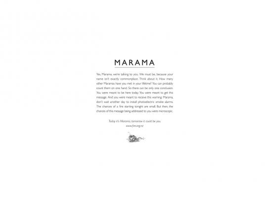 Smoke Alarms Print Ad -  Marama
