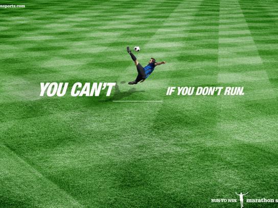 Marathon Sports Print Ad -  Football