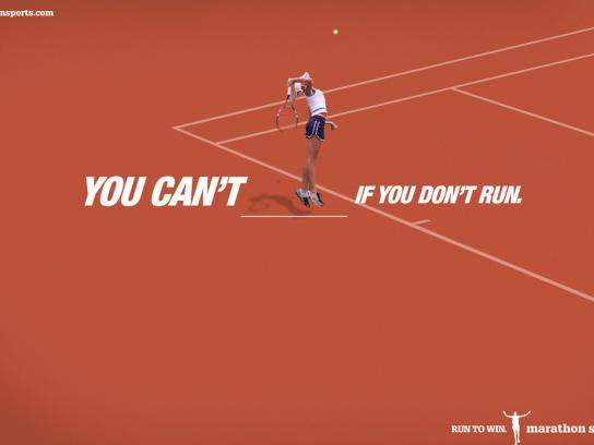 Marathon Sports Print Ad -  Tennis
