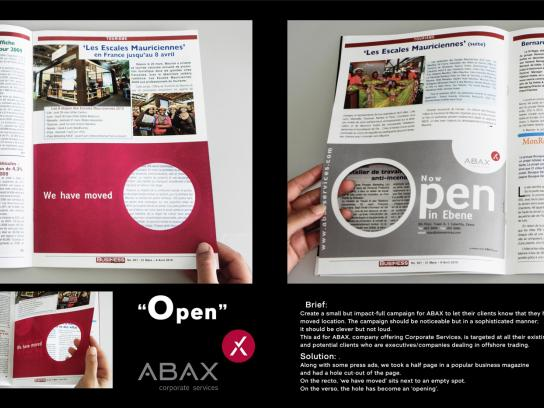 Abax Print Ad -  Open