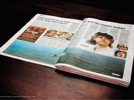 Western Australia Tourism Ambient Ad -  Surf
