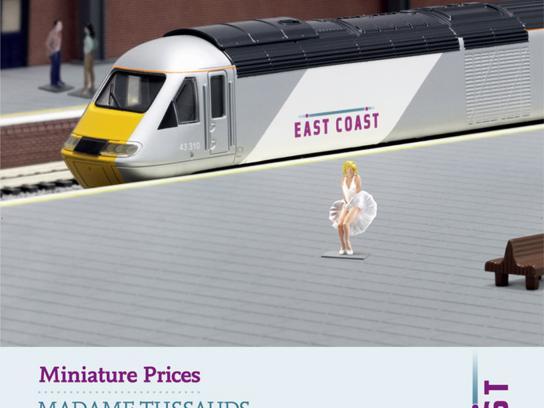 East Coast Trains Print Ad -  Miniature prices, Marylin